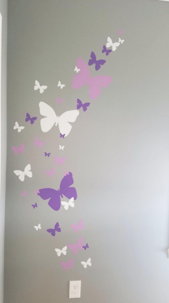 Butterfly Wall Stickers Beautiful Butterfly Room Theme Idea