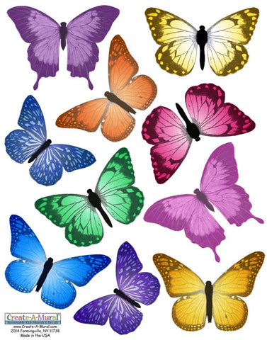 Butterfly Room Wall Stickers - Kids Room Mural Wall Decals