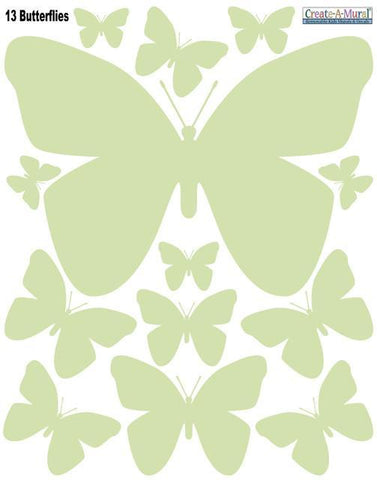 Sage Butterfly Wall Decals