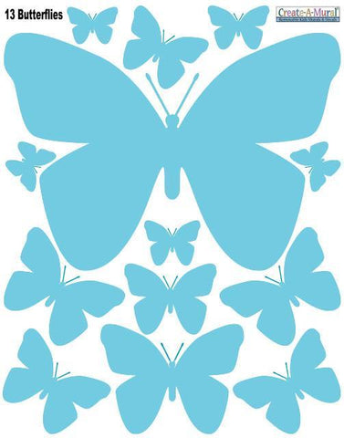 Butterfly Wall Decals-Soft Teal