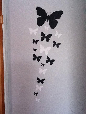 Butterfly Wall Decals -Black & White - Kids Room Mural Wall Decals