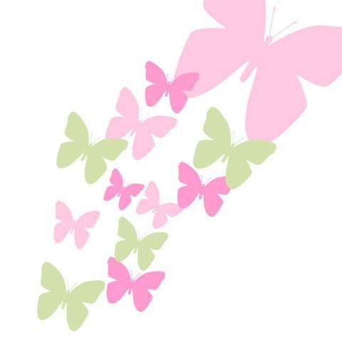Butterfly Wall Decals- Soft Pink, Pink, & Sage Green Appliques'