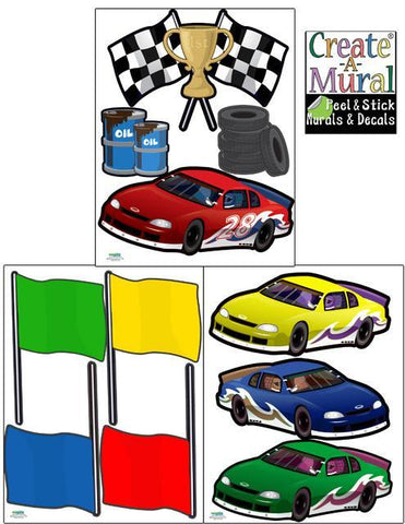 Race Car Wall Stickers - Create-A-Mural