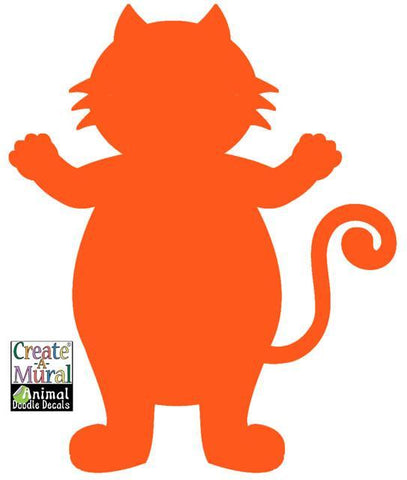 Cat Doodle Dry Erase Wall Decal