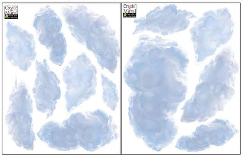 Ceiling Clouds Decals - Create-A-Mural