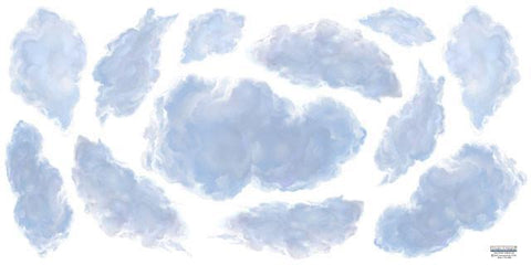 Sky Ceiling Clouds 4' - Kids Room Mural Wall Decals