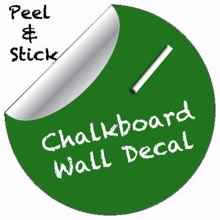 Chalkboard Dot Decal (Green) - Kids Room Mural Wall Decals
