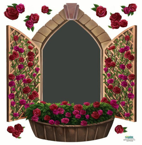 Rose Window Chalkboard Mural - Kids Room Mural Wall Decals