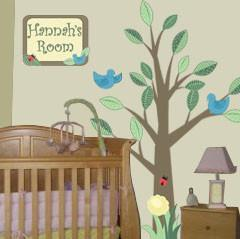 Nursery Tree Mural - Kids Room Mural Wall Decals