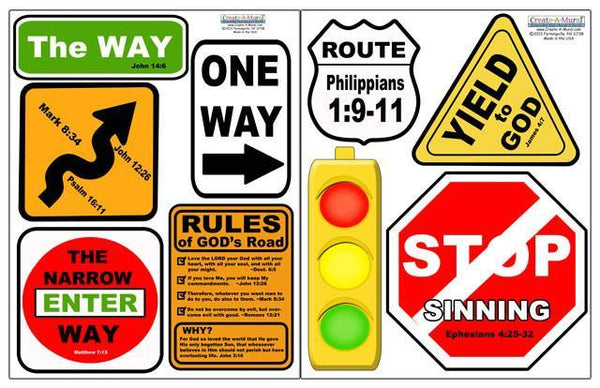 Christian Street Sign Wall Decals