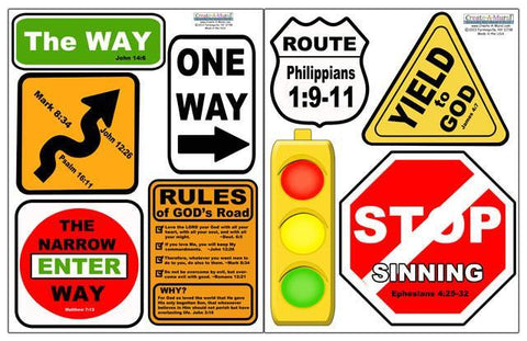 Christian Street Sign Decals - Kids Room Mural Wall Decals