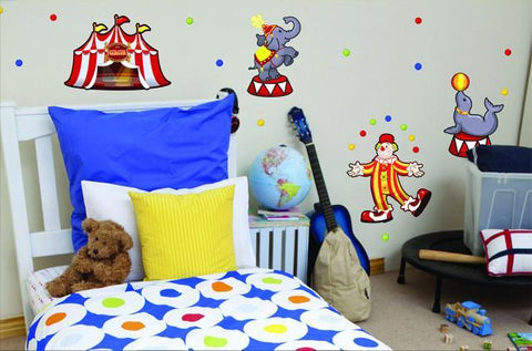 Circus Wall Stickers - Kids Room Mural Wall Decals