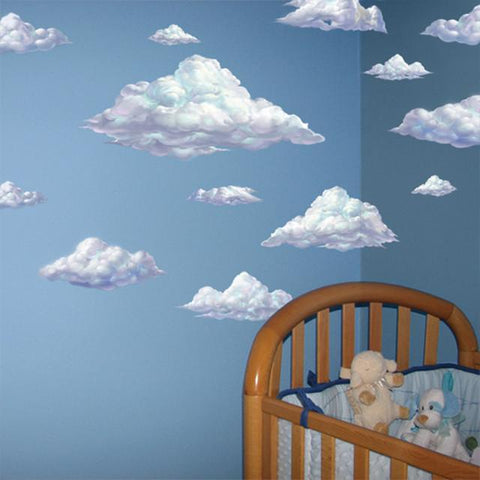 Sky Clouds Mural - Kids Room Mural Wall Decals
