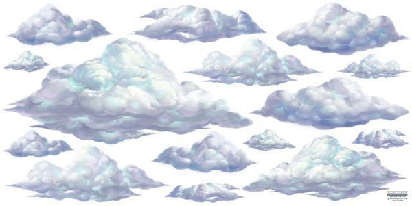 Sky Clouds Mural Nursery Cloud Mural Mural Of Clouds
