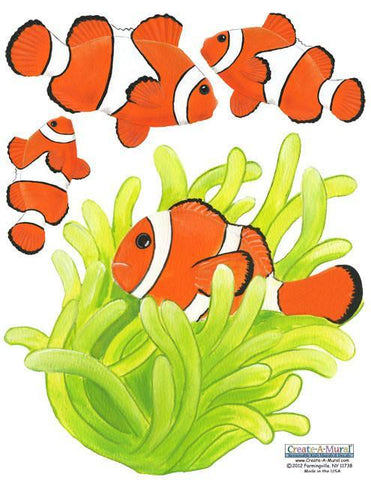 Clown Fish Wall Stickers - Kids Room Mural Wall Decals