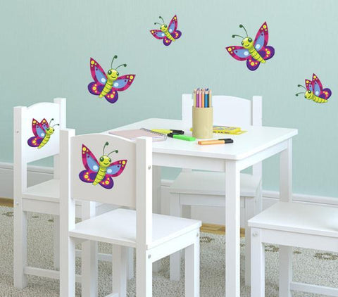 Cute Butterfly Wall Decals - Kids Room Mural Wall Decals