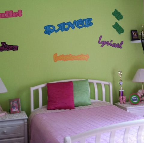 Dance Words Decals
