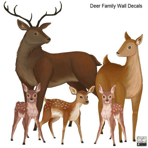Deer Family Wall Decals - Kids Room Mural Wall Decals