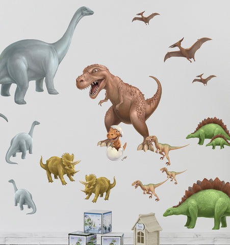Dinosaur Mural Decals - Kids Room Mural Wall Decals