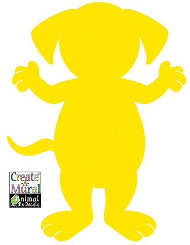 Dog Doodle Dry Erase Wall Decal - Kids Room Mural Wall Decals