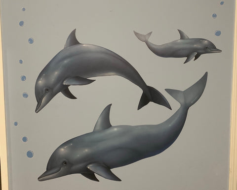 Dolphin Mural - Kids Room Mural Wall Decals