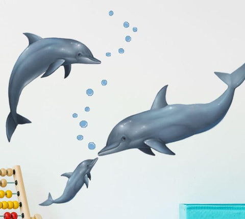Dolphin Wall Decals - Kids Room Mural Wall Decals