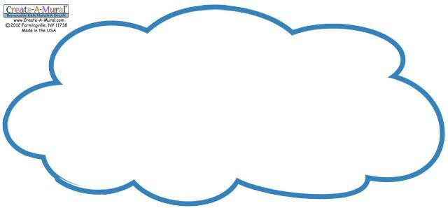 Dry Erase Cloud Decal Large 3'