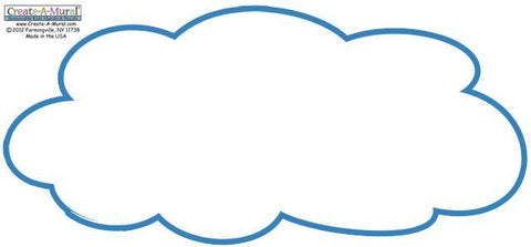 Dry Erase Cloud Decal Large