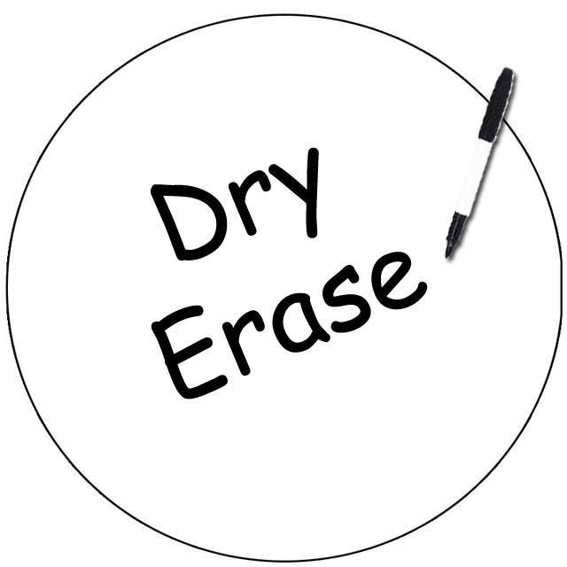 Dry Erase White Dot Decal-11""