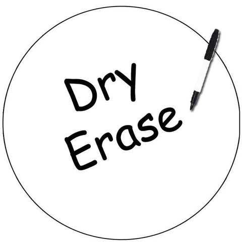 Dry Erase Dot Decal (White) - Create-A-Mural