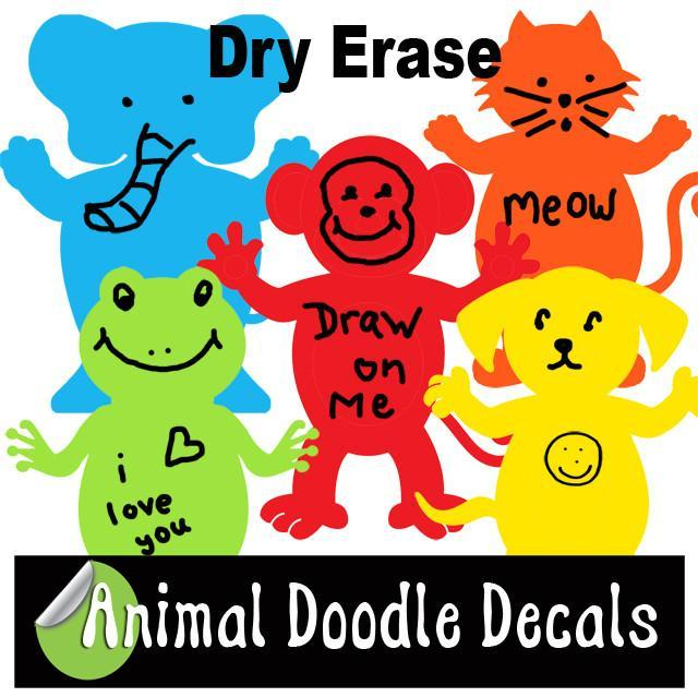 Animal Doodle Decals 1'