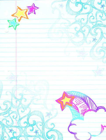 Dreamy Rainbow Dry Erase Locker Decal - Kids Room Mural Wall Decals