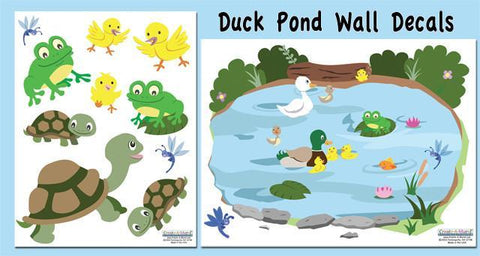Duck Pond Wall Decals - Kids Room Mural Wall Decals
