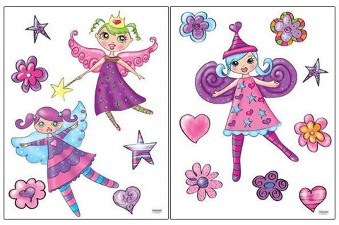 Fairy Princess Wall Stickers - Kids Room Mural Wall Decals