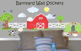 Barnyard Wall Stickers -Kids Wall Decals - Kids Room Mural Wall Decals