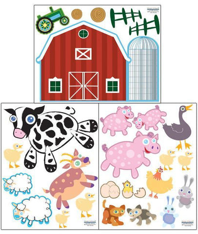 Farm Animals Wall Decals - Create-A-Mural