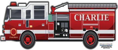 Fire Engine Wall Decal - Kids Room Mural Wall Decals