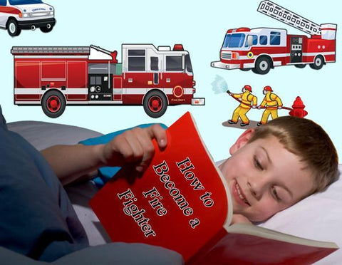 Fire Truck Wall Decals - Kids Room Mural Wall Decals