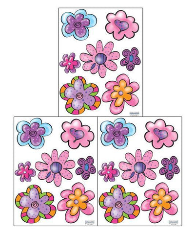 Flirty Flowers Wall Stickers - Create-A-Mural
