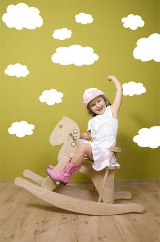 Wall of Clouds Mural - Kids Room Mural Wall Decals