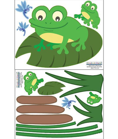 Frog Wall Decals - Kids Room Mural Wall Decals