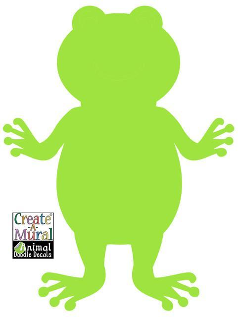 Froggy Doodle Dry Erase Wall Decal