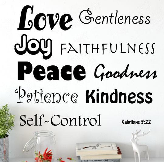 Galatians 5 22 23 Quot Fruit Of The Spirit Wall Words Quot