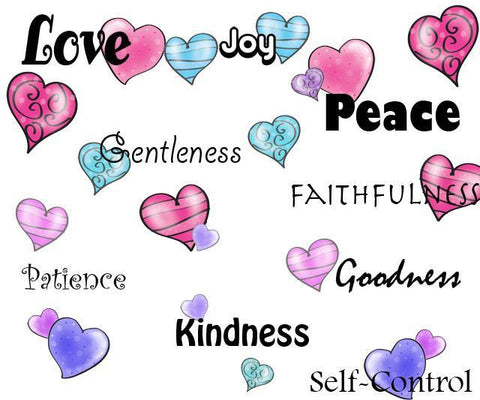 Fruit of the Spirit Wall Decals - Create-A-Mural