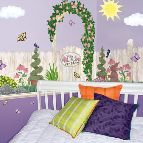 Garden Mural - Kids Room Mural Wall Decals