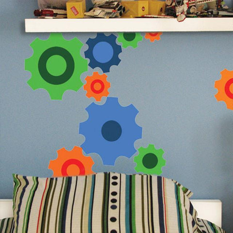 Fun Gear Wall Stickers - Kids Room Mural Wall Decals