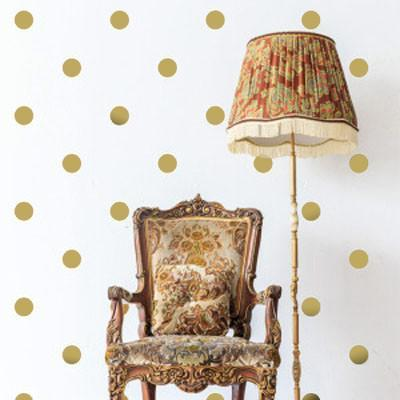 Gold Room Polka Dot Wall Decals - Create-A-Mural