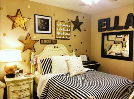 Gold Wall Dot Decals