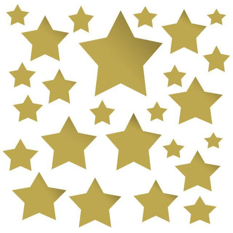 Gold Multi Star Wall Decals - Kids Room Mural Wall Decals