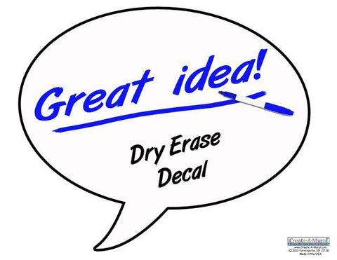 Great Idea Dry Erase Decal - Create-A-Mural